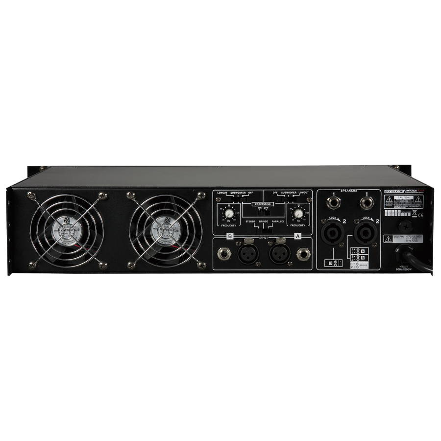 Reloop Amperor 4004 Power Amplifier 2 X 700 Watt 8 Ohm Up To Circuit Overload And Short Protection Thermal Protective System Separate Circuits For Channels A B Outputs Pa Pro Speaker Cable