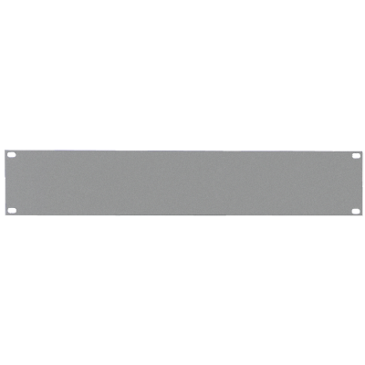 Reloop 48 cm (19 Zoll) Rackblende 2 HE silver - Front View