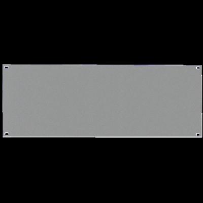 Reloop 48 cm (19 Zoll) Rackblende 4 HE silver - Front View
