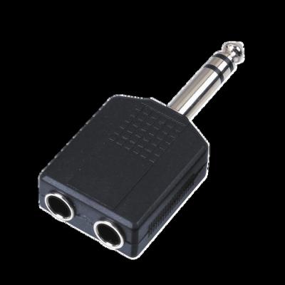 Reloop Adapter Stereo 2x 6 3 mm Klinke W   1x 6 3 mm Klinke