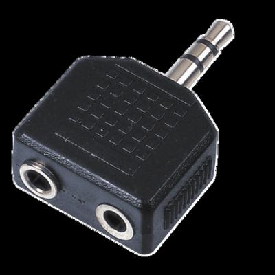 Reloop Adapter 2x 6 3 mm Klinke W   1x 3 5 mm Klinke