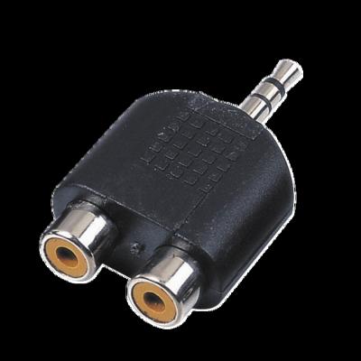 Reloop Adapter 2x Cinch W   1x 3 5 mm Klinke