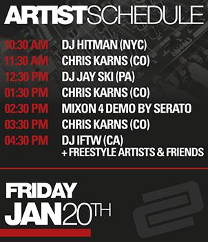 Artist Schedule