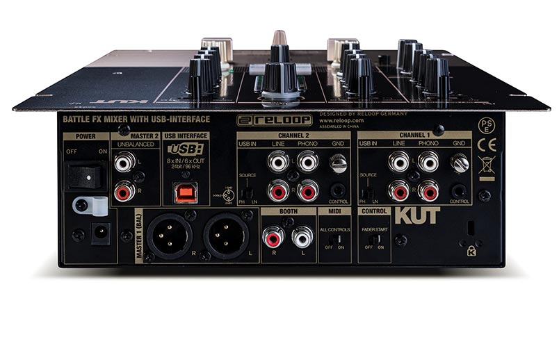Reloop KUT - High-speed 8 in/6 out USB audio interface