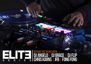 ELITE Series behind the decks