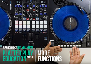 RP-8000 MK2 - Platter Play Mode Functions