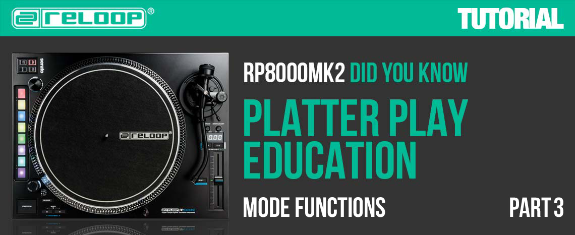 New Video: RP-8000 MK2 - Platter Play Education - Part 3